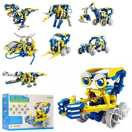 Электронный конструктор робот Solar Robot Original 11 в 1 на солнечных