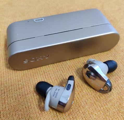 Наушники Sony WF-1000X Gold / шумоподавление / NFC-чип / ArtX / AAC
