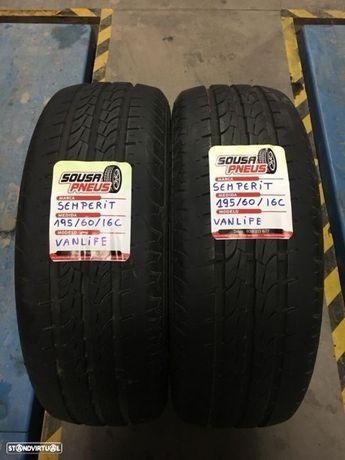 2 pneus semi novos 195/60/16C - Entrega grátis
