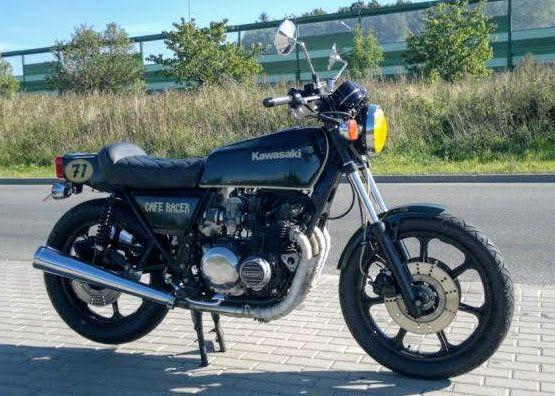 Motor Cafe racer kawasaki 500 custom