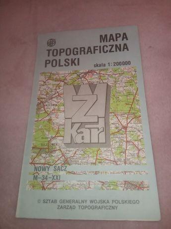 Mapa topograficzna Nowy Sącz