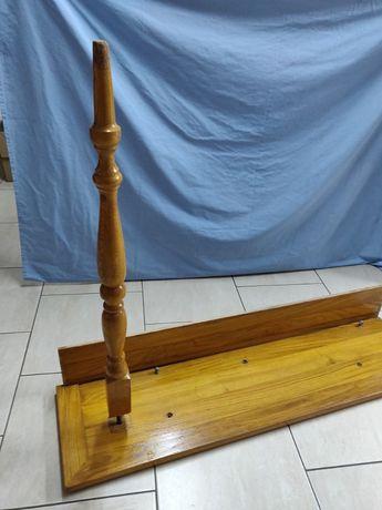 Schody drewniane DĘBOWE + tralki 17 sztuk eleganckie