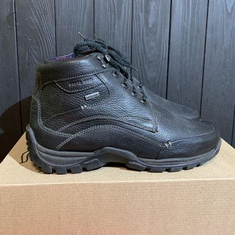 Кожаные ботинки Fretz gore tex 40 размер Clarks ecco lacoste solomon