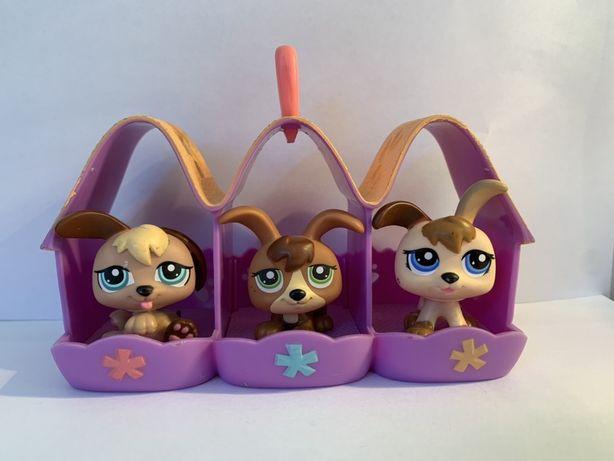 LPS Littlest Pet Shop - figurki pieski z budą