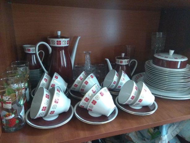 Кофейный сервиз ГДР СССР, возраст-больше 50 лет, сервантное хранение