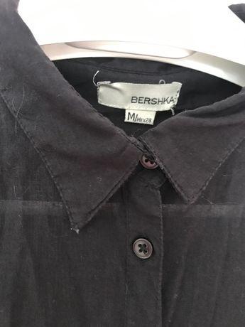 Koszula długa czarna Bershka