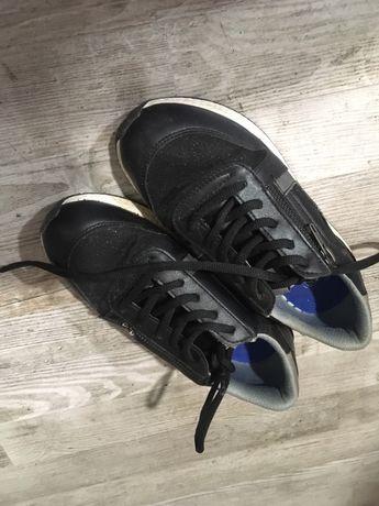 Buty dziewczynka czarne brokat rozm 35