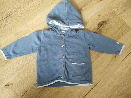 Sweterek newbie 74 szaro niebieski bdb-
