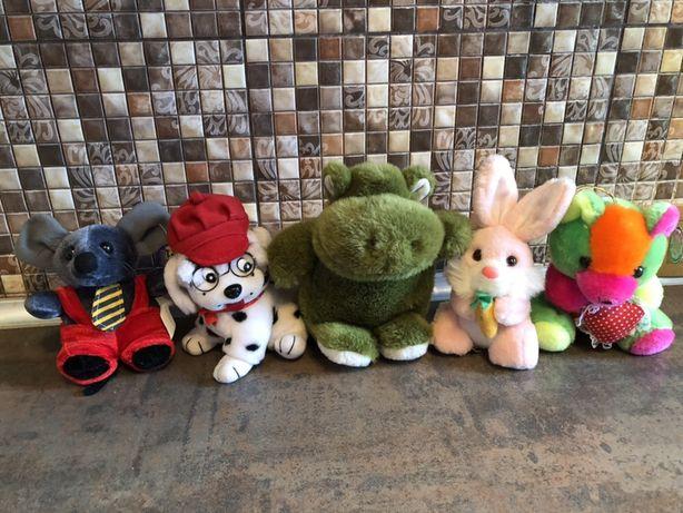 Мягкая игрушка медведь,заяц,бегемот,мышонок