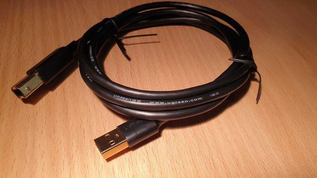 Кабель Ugreen USB А - USB В. 1,5м. Новый.