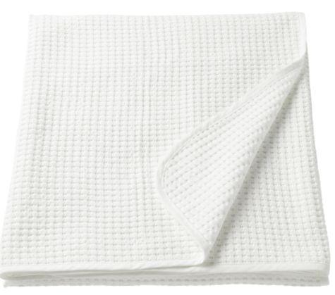 ikea, VÅRELD narzuta, biały 150 x 250 cm 100% bawełna Kraków - image 1