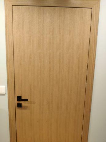 NOWE Drzwi bezprzylgowe i ościeżnica Pol-Skone DECO LUX 00, 80cm,prawe