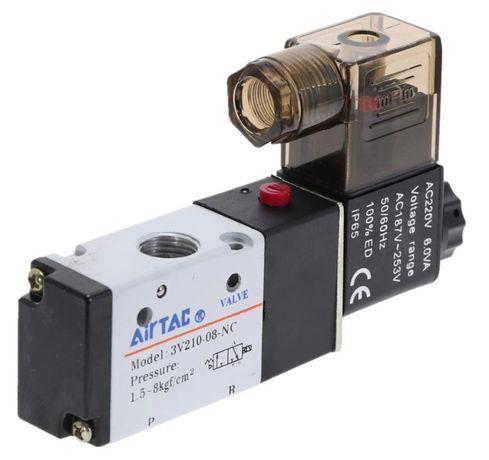 Пневматический электромагнитный клапан Airtac 3V210-08, 2 положения
