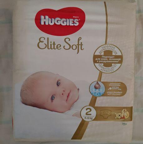 Памперсы Huggies Elite Soft 2 (4-6 кг) 82 шт