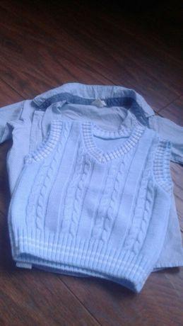 Elegancka koszula dla chłopców plus kamizelka