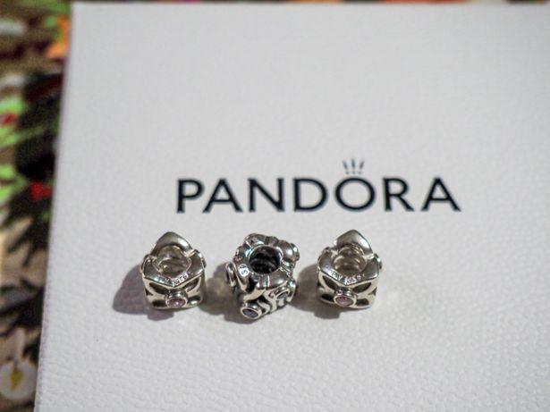 Pandora charms unikat Różowy pachnący groszek