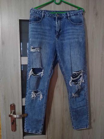 spodnie typu boyfriend