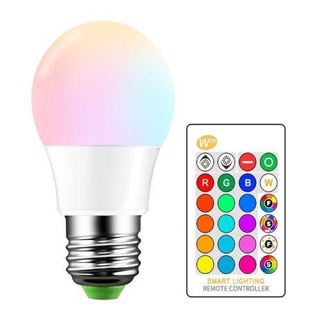 E14 LED RGB Bulb 5W Spot light 16 colors IR Remote Control