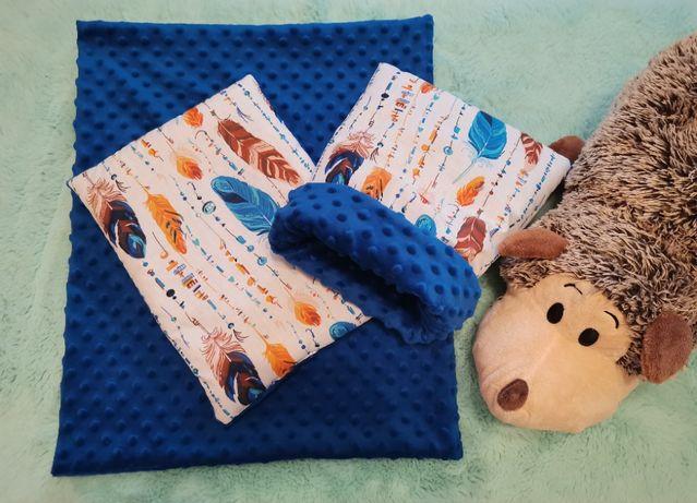 Norka, kocyk, poduszka dla jeża , jeż pigmejski, niebieski w pióra