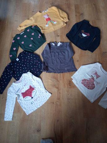 Bluzy swetry bluzki zestaw H&M cool club rozmiar 92 dziewczynka Peppa