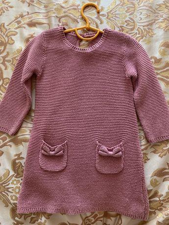 Нарядное вязанное платье на 1-1,5 года
