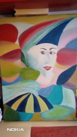 Obraz  recznie malowany  mojego autorstwa.