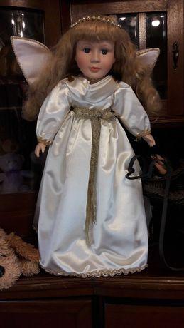 Lalka porcelanowa. Śliczny Aniołek 55cm