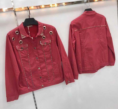 Женский джинсовый пиджак куртка коттон Турция
