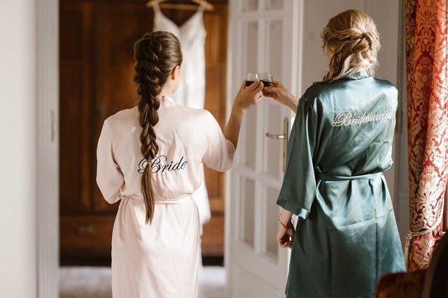 Szlafroki Bride, Bridesmaid (Panna Młoda i Świadkówa)