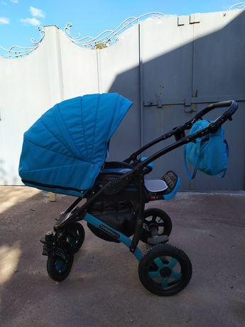 Детская коляска 2 в 1Camarelo Sevilla, голубая