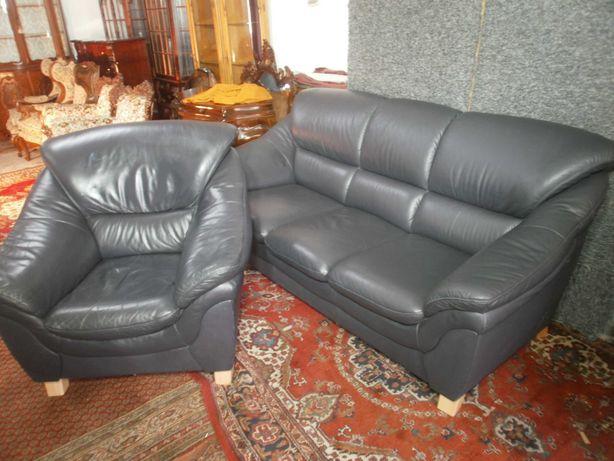 Wypoczynek Sofa ze Skóry 3+1 z Niemiec