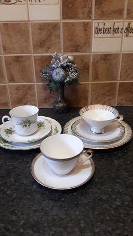 Чайная пара тройка десертная тарелка фарфор винтаж