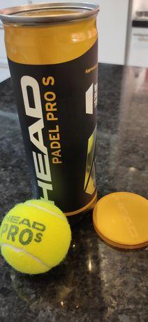 Bolas Padel Head Pro S (3/4 jogos, como novas) - Caixas de 3 bolas
