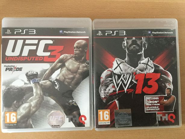 Jogos Sony Playstation 3 (PS3) - UFC3 Undisputed / W13 (Wrestling)