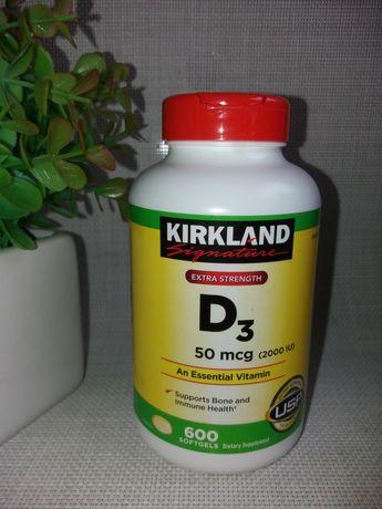 Вітамін D3 kirkland 600 капсул.