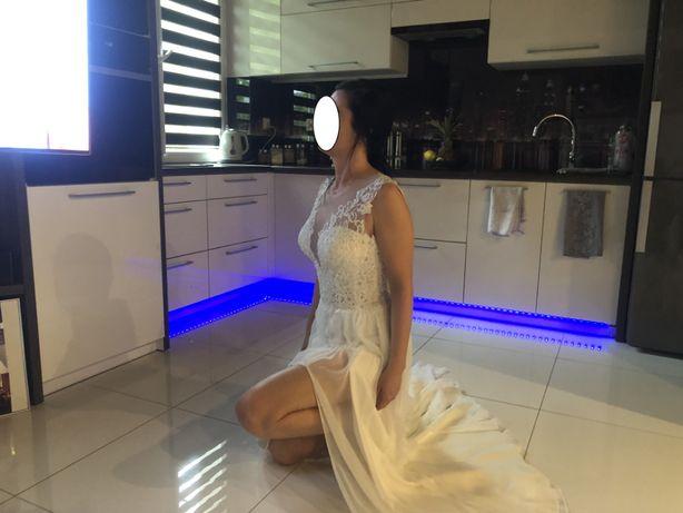 Śliczna, lekka sukienka ślubna. Ślub cywilny, kościelny.