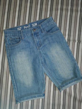 Джинсовые шорты мальчику 9-10 лет 140 см