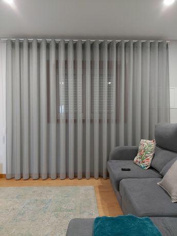 Vendo 3 cortinas ondas em exelente estado