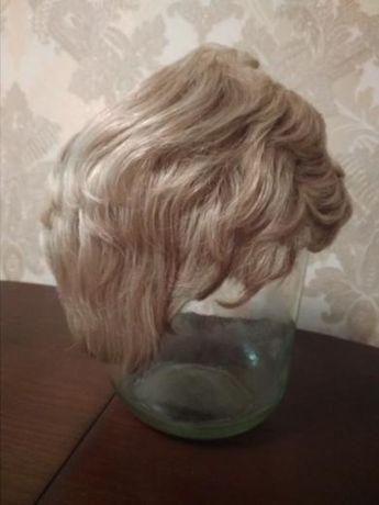 Натуральний короткий парик натуральние волоски волосся