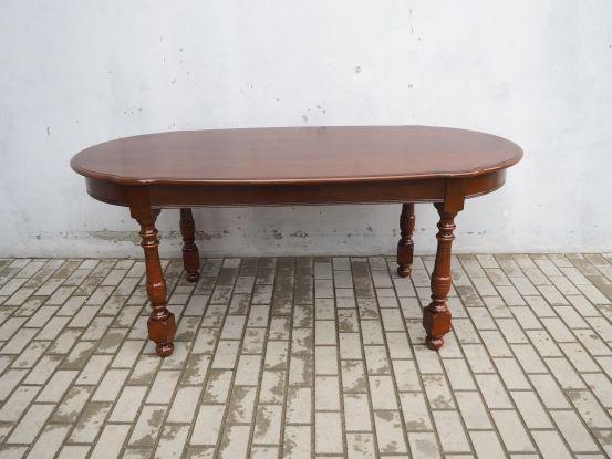 Stylowy mahoniowy owalny stół angielski 710