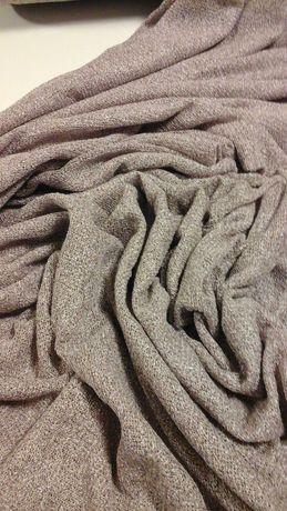 Tkanina sweterkowa brudny róż