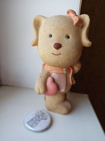 копилка для денег значок медвежонок сердце подарок игрушка
