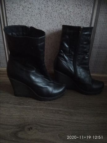 Кожаные ботинки весна-осень