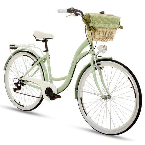 """NOWY rower miejski/damski Goetze Mood 28"""" 7 biegów shimano PISTACJOWY"""