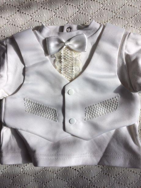 Хрестильний набір костюм для хрещення хлопчика не хрещений