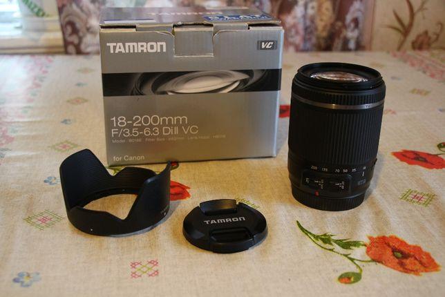 Tamron 18-200 VC, Canon EF-s, mały przebieg-stan idealny. Wys. gratis