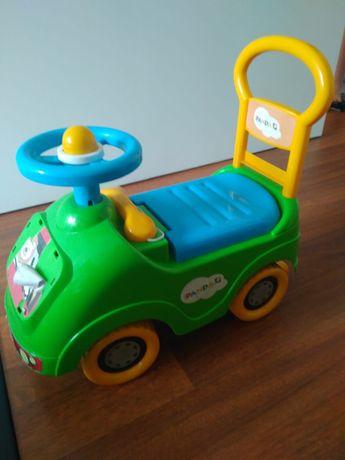 Carro do Panda com volante e telefone como novo