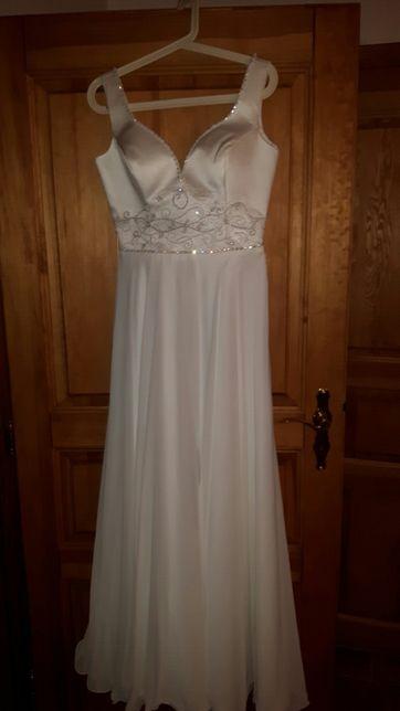 Suknia ślubna skromna i elegancka rozm.38