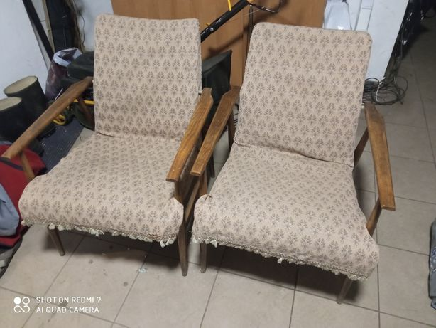 Fotele PRL 70 lisek, chierowski