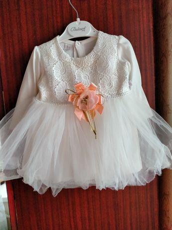 Платье для девочки на годик,на крестины 74 см. 9 мес.